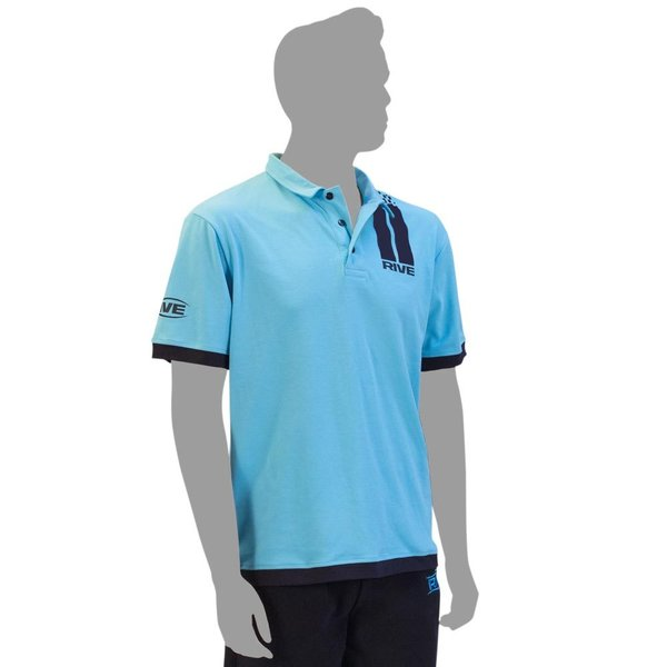 Poloshirt Stripes - Aqua